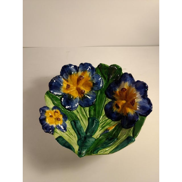 Vintage Italian Hand Painted Iris Bowl - Image 9 of 10