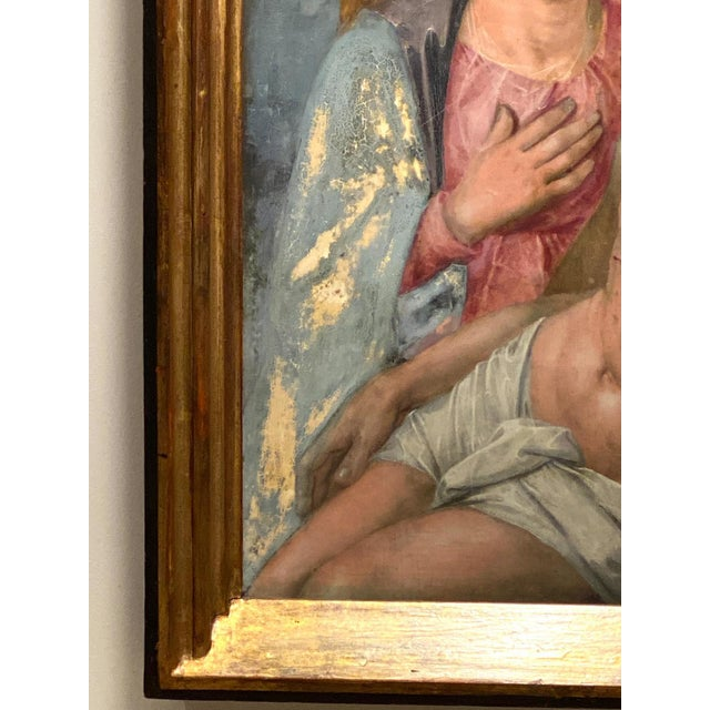 Oil on Board of Mary Magdalene and Jesus For Sale - Image 4 of 6