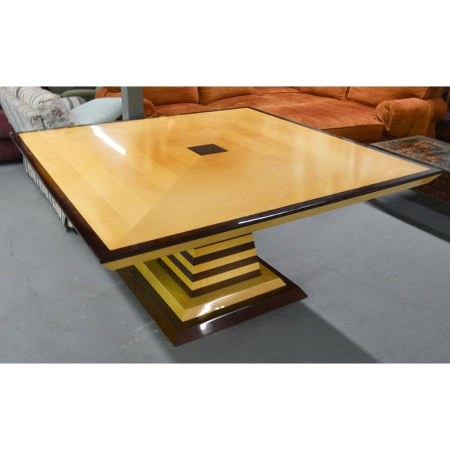 1980s 1980s Mid-Century Modern Brueton Industries Sycamore Square Egypt Table Dining Table For Sale - Image 5 of 7