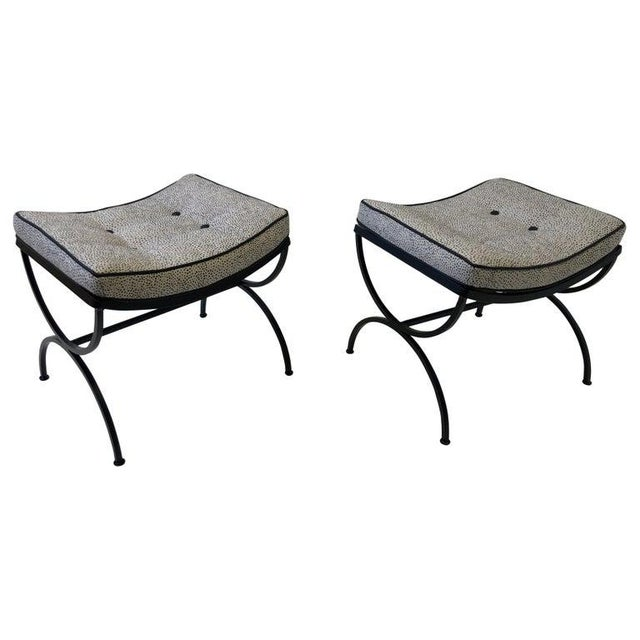 Black Sculptura Ottomans by Woodard - a Pair For Sale - Image 11 of 11