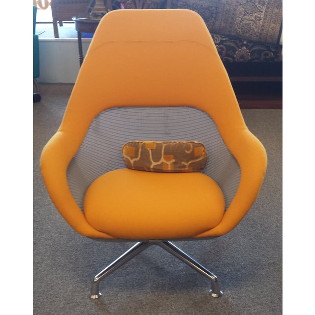 Coalesse Yellow High-Back Swivel Chair - Image 2 of 3