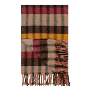 Marjorelle Rose Wool & Silk Throw For Sale