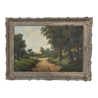 Antique Framed Oil Painting on Canvas ~ Landscape For Sale