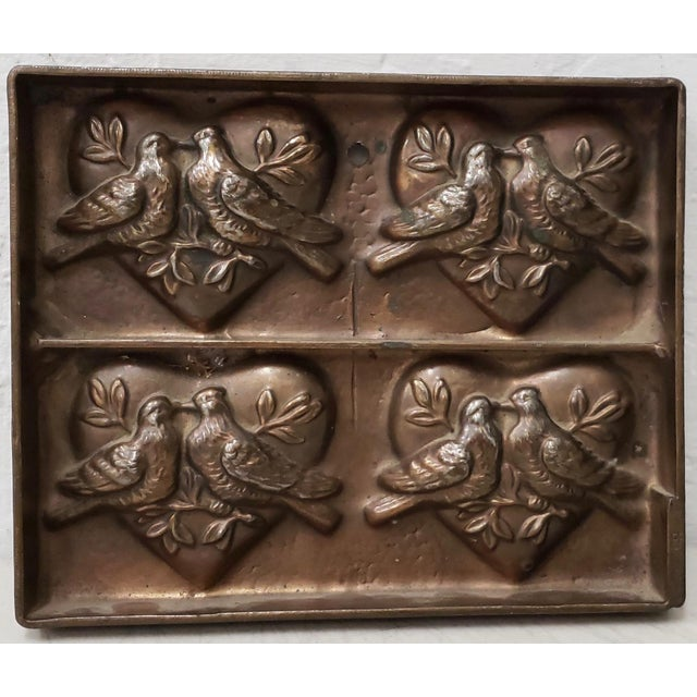 """Early 20th Century Antique t.c. Weygandt Co. """"Love Birds"""" Chocolate Mold For Sale - Image 5 of 6"""