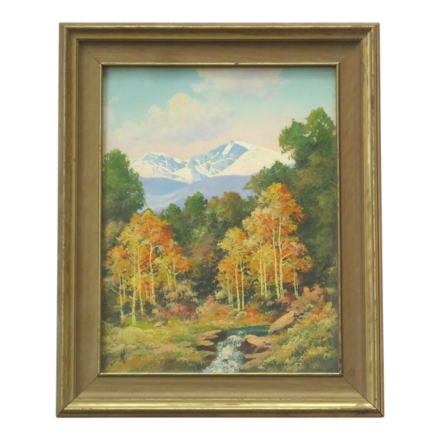Willard Page Rocky Mountain Scene Painting For Sale