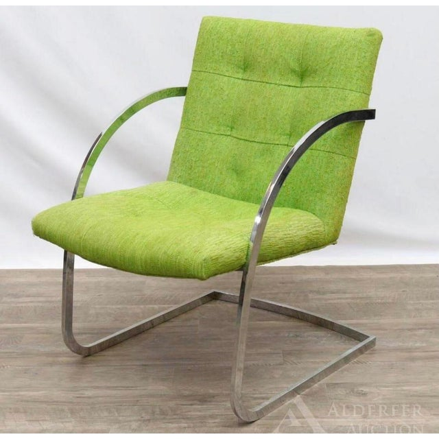 Chrome 1960s Original Milo Baughman for Thayer Coggin Lounge Chairs - a Pair For Sale - Image 8 of 9