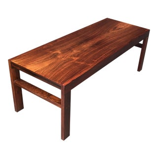 1960s Danish Modern Aksel Kjersgaard Rosewood Coffee Table For Sale