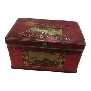 Early 20th Century Vintage Imperial Russia Mikado-Tea Tin For Sale