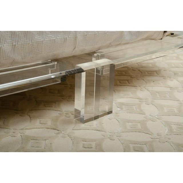 Gray Mid-Century Modern Lucite King Sized Bed For Sale - Image 8 of 10