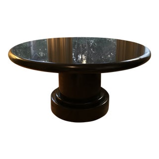 1920s Vintage Michael Taylor Black Granite Dining Table For Sale