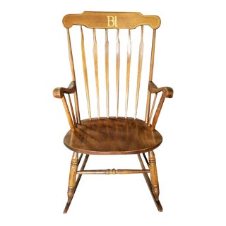 S. Bent & Bros. Colonial Style Rocking Chair For Sale