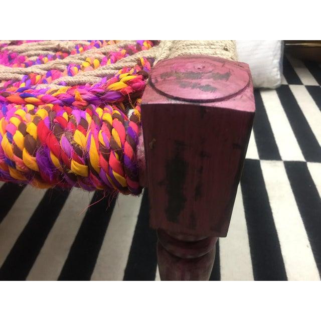 Coco Multicolored Woven Bench - Image 4 of 5