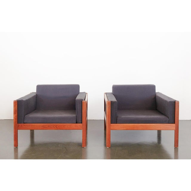 Danish Modern Upholstered Teak Chairs - a Pair For Sale - Image 10 of 10