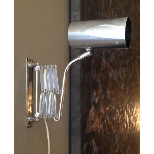Industrial Style Koch and Lowy Accordion Sconce - Image 6 of 6