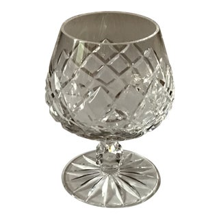 Vintage Ceska Cut and Clear Crystal Brandy Snifter For Sale