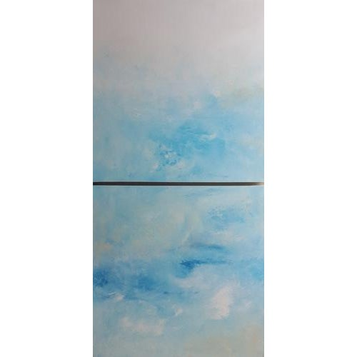 """""""Breeze"""" Original Abstract Diptych - A Pair - Image 3 of 3"""