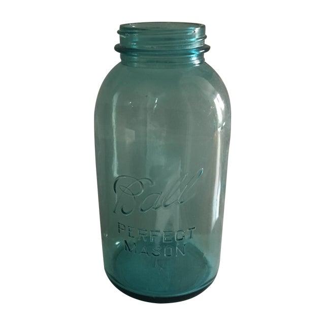 Vintage Blue Glass Ball Mason Jar - Image 1 of 7