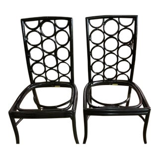McGuire Laura Kirar Ringback Chairs - a Pair For Sale