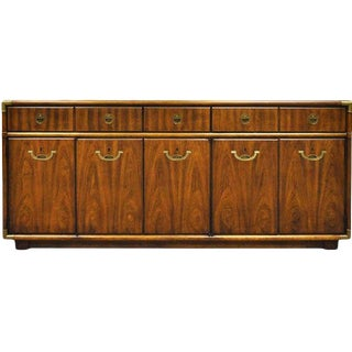 1970s Drexel Accolade Campaign Credenza For Sale