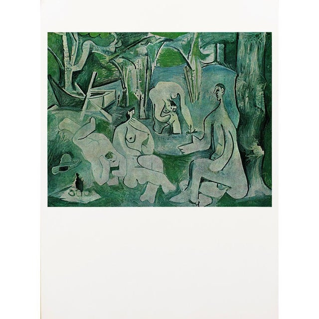 "Printmaking Materials 1971 Pablo Picasso, ""Luncheon on the Grass"" Period Parisian Photogravure For Sale - Image 7 of 7"