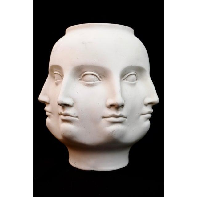 Original Tms 2005 Vitruvian Fornasetti Style Perpetual Face Vase Dora Maar Head Planter For Sale - Image 13 of 13