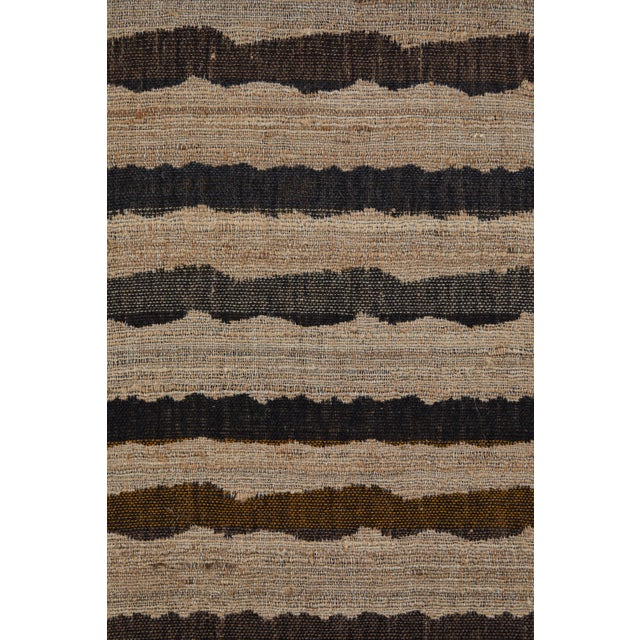 Indian Handwoven Throw Ocean Stripe For Sale - Image 4 of 6