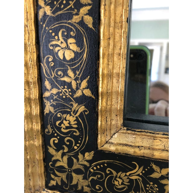 Wood Magnificent Large Black and Gold Regency Style Mirror For Sale - Image 7 of 10