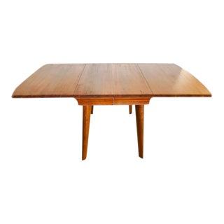 Mid-Century Modern Bissman Solid Walnut Drop Leaf Dining Table For Sale