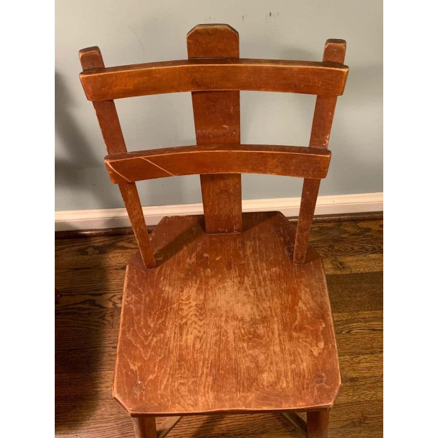 Primitive Pair of Cherrywood Side Chairs in the Manner of Jean Touret For Sale - Image 9 of 11