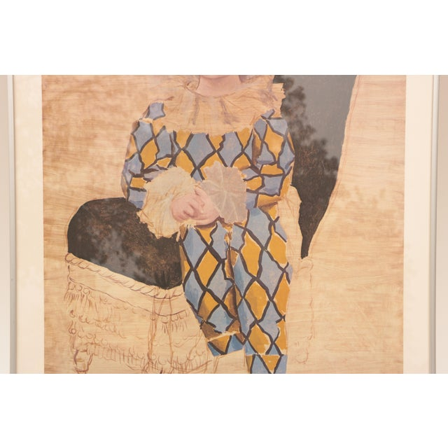 """Pablo Picasso - """"Paul as Harlequin"""" Framed Lithograph Print For Sale - Image 5 of 8"""