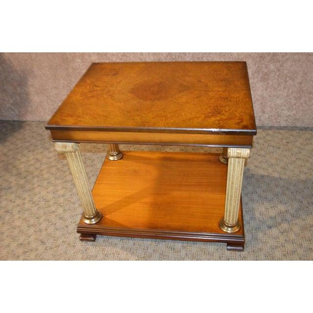 Vintage Neo-Classic Style Corenthian Column Leg Side Tables - a Pair For Sale - Image 9 of 13