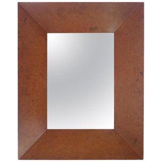 Deep Well Carpathian Elm Burl Frame Mirror by Edward Wormley For Sale