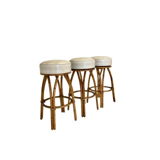 Trio of Mid Century Heywood Wakefield Bar Stools For Sale