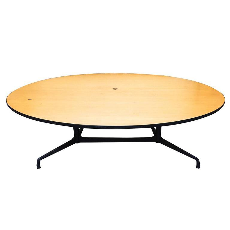 Herman Miller Charles And Ray Eames Round Conference Table By Herman Miller  For Sale   Image