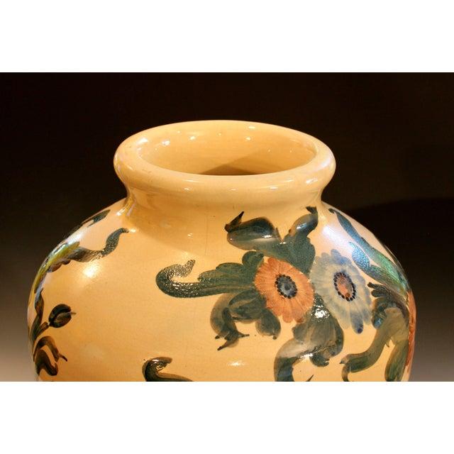 1940s Big Rrp Co Robinson Ransbottom Roseville Garden Urn Pottery Porch Floor Vase For Sale - Image 5 of 11