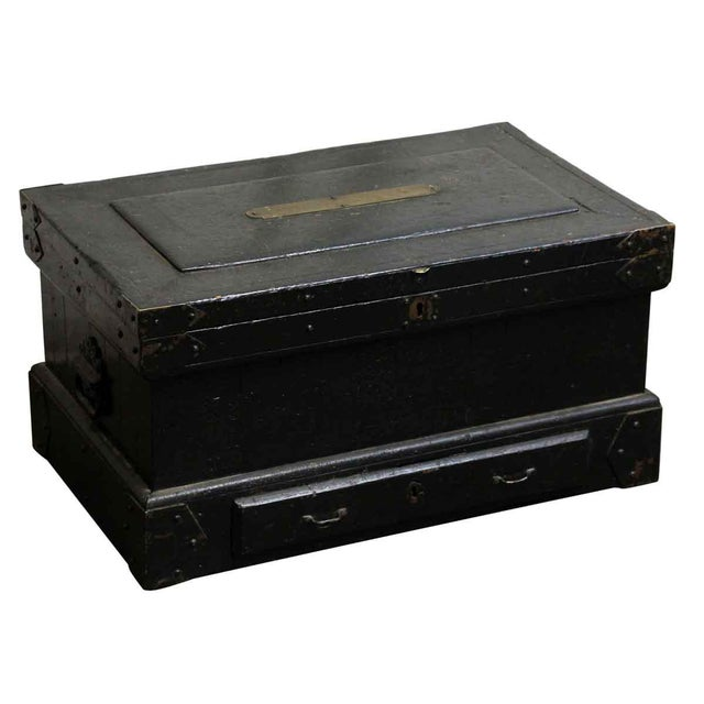 Vintage Accessories Box With Iron Straps For Sale - Image 4 of 10