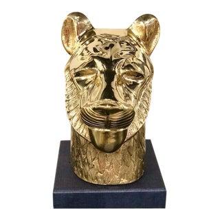 Brass Lion Head Sculpture