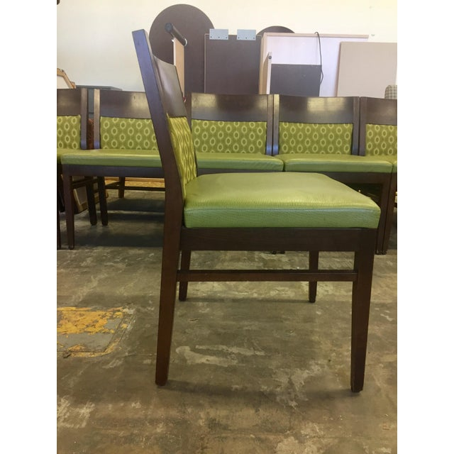 Verdant Green Patterned Dining Chairs - Set of Six - Image 5 of 7