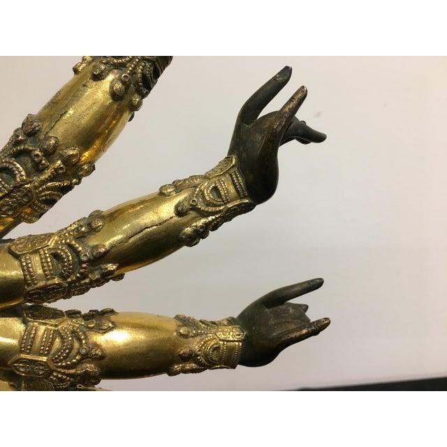 Bronze Tibetan Gilt Bronze Arms of a Bodhisattva For Sale - Image 7 of 8