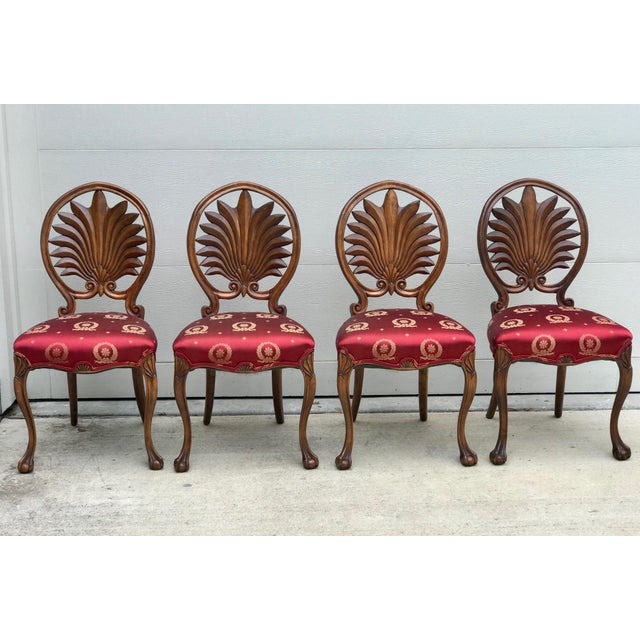 Mid 19th Century Antique Walnut Austrian Chairs- Set of 4 For Sale - Image 12 of 12