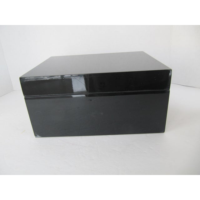 Minimalist Black Lacquer Box - Image 6 of 6