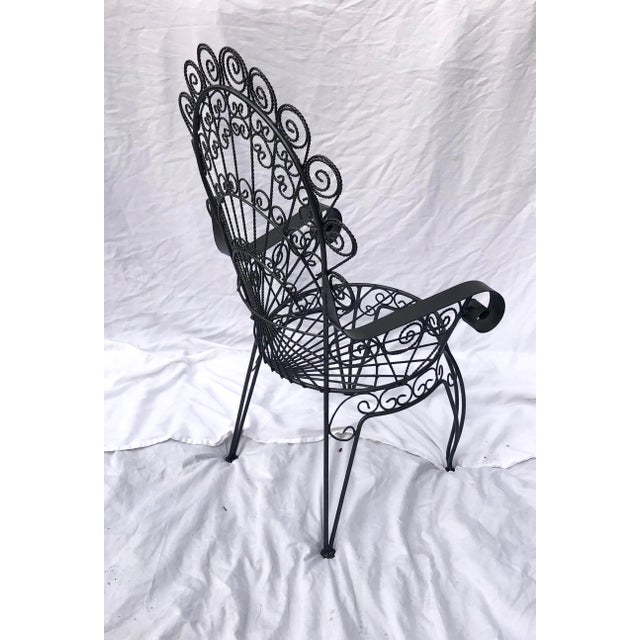 Mid 20th Century Vintage Wrought Iron Patio Chairs For Sale - Image 5 of 8