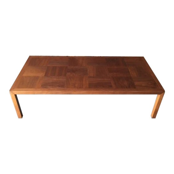 Mid-Century Refinished Parsons Style Coffee Table - Image 1 of 7