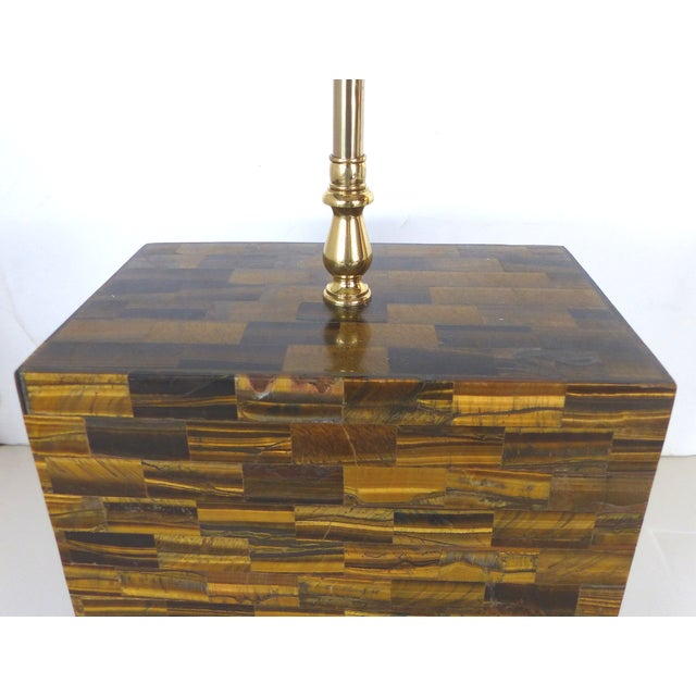Tessellated Tigers Eye Table Lamps - A Pair - Image 7 of 10