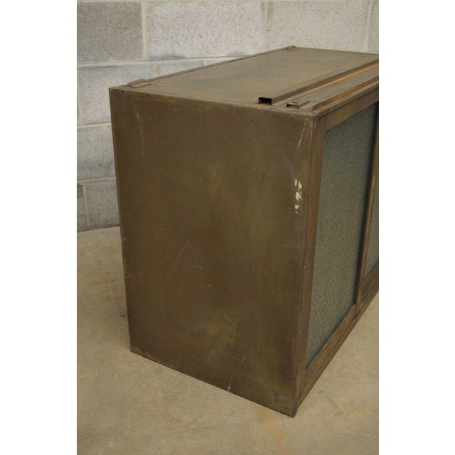 Green 20th Century Industrial Remington Rand Green Steel Metal Stacking Barrister Storage Cabinet For Sale - Image 8 of 13