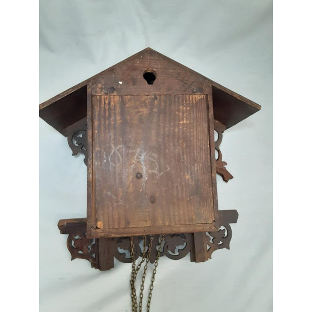 Early 20th Century Black Forest Carved Cuckoo Clock For Sale - Image 9 of 11