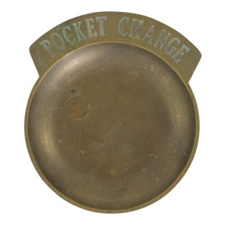 Brass Pocket Change Tray For Sale