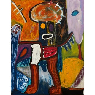 """""""The Emperor"""" Contemporary Abstract Figurative Acrylic Painting by Diane Grant For Sale"""