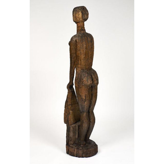 Life size statue of Annabel Buffet. This hand carved piece is made of oak and represents Annabel Buffet, who was Bernard...