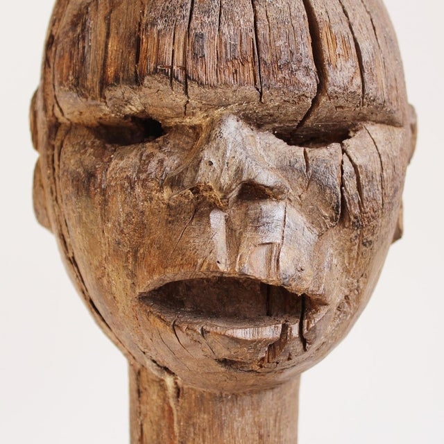 Bongo carved wooden property marker chairish